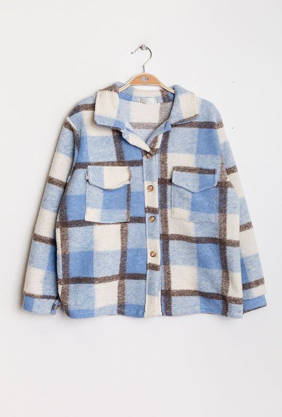 Bella Blue Check Shacket