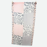 Abstract Leopard print pink scarf