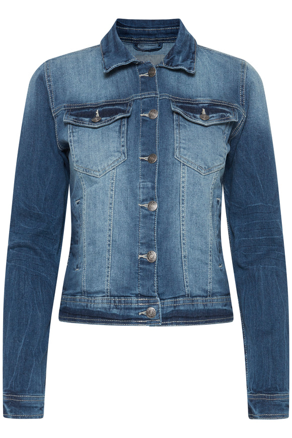 B.Young Pully Denim Jacket- Med Blue