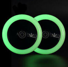 Load image into Gallery viewer, Envy Hollow Core Glow In The Dark Wheel Set 110mm