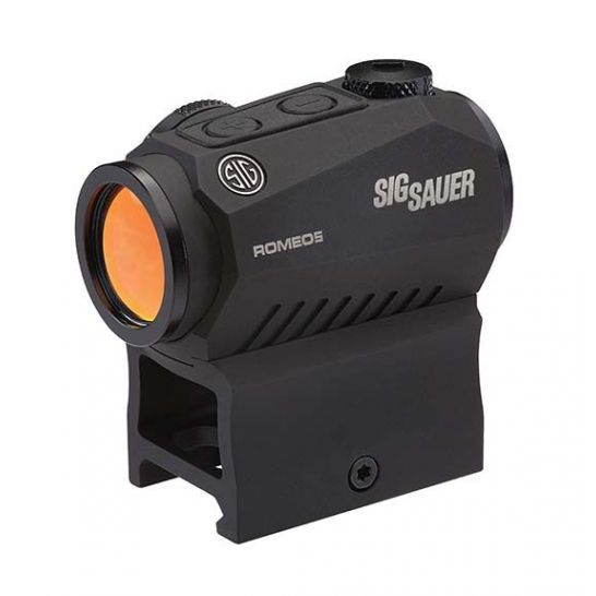 Sig Sauer Romeo5 1x20mm Compact 2 Moa Red Dot Sight, Black