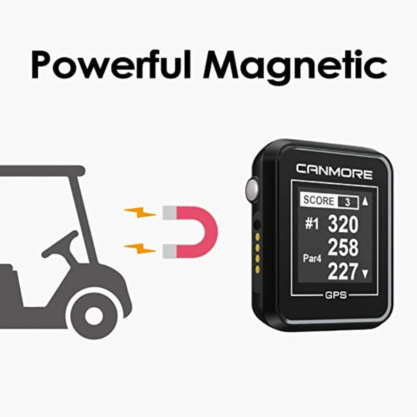 CANMORE H-300 Handheld Golf GPS - Essential Golf Course Data and Score Sheet - Minimalist & User Friendly - 38,000+ Free Courses Worldwide and Growing - 4ATM Waterproof