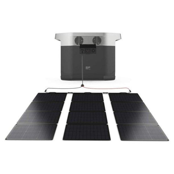 EF EcoFlow Portable Rechargeable Power Station EcoFlow & 3 Folding Solar Panels