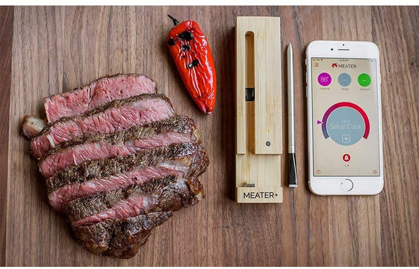 New MEATER+165ft Long Range Smart Wireless Meat Thermometer+ One Scraper
