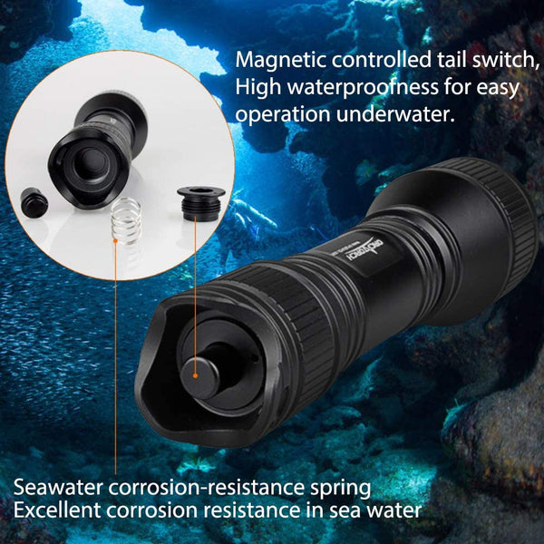ORCATORCH D550 Dive Light 1000 Lumens Scuba Safety Torch