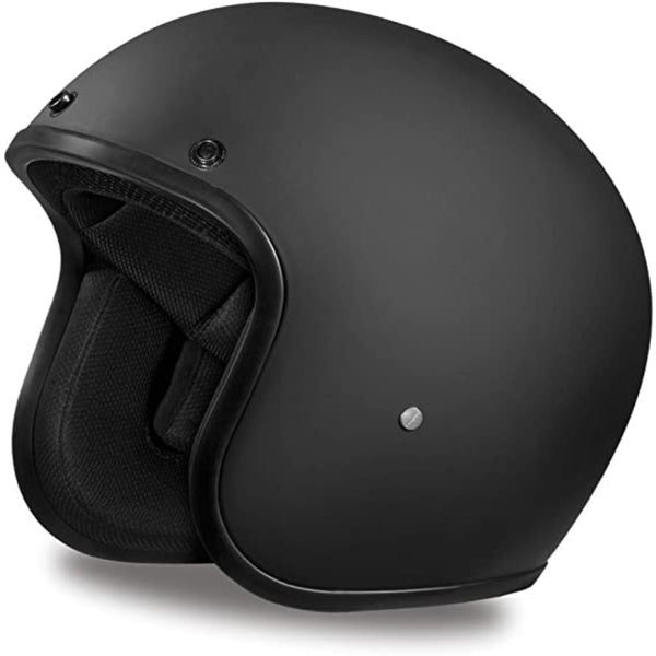 Daytona Helmets Motorcycle Open Face Helmet Cruiser- Dull Black 100% DOT Approved