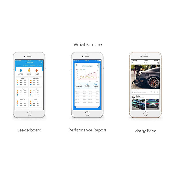dragy performance meter with mobile controlable app
