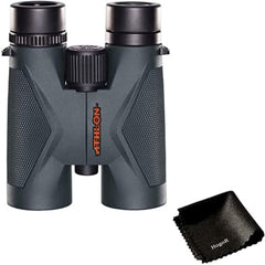 Athlon Optics Midas Roof Prism UHD Hunting Binoculars Light and Slim Waterproof, Shockproof and XPL Lenses Coating Design (8X42) Bundled with HogoR Lens Cleaning Cloth