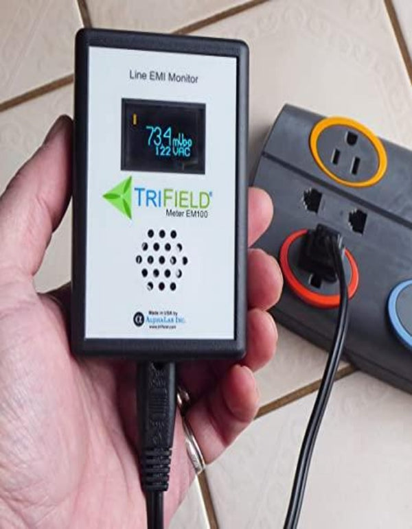 Dirty Electricity Meter by Trifield - Model EM100 - EMI Power Line Noise Analyzer - Know Your Electricity @ Home, Office, Shop - Made in USA by Alphalab, Inc.