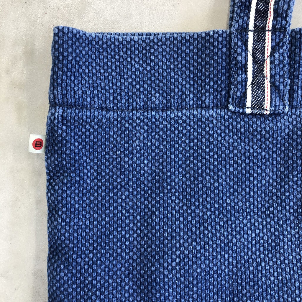Tote Bag in Japanese Sashiko Embroidery