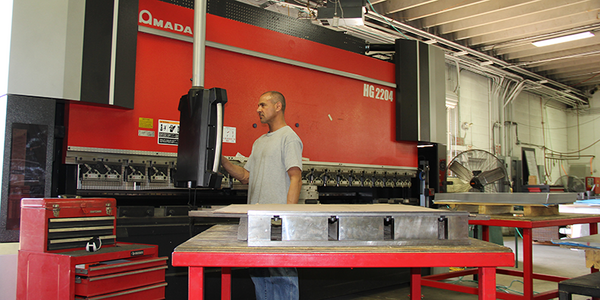 AEI Fabrication services include bending and forming on our Amada 250-ton press brake.