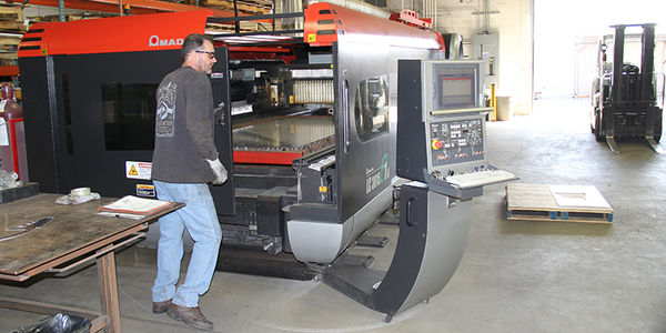 AEI Fabrication services include laser cutting on our 6,000 Watt Amada laser cutting system.
