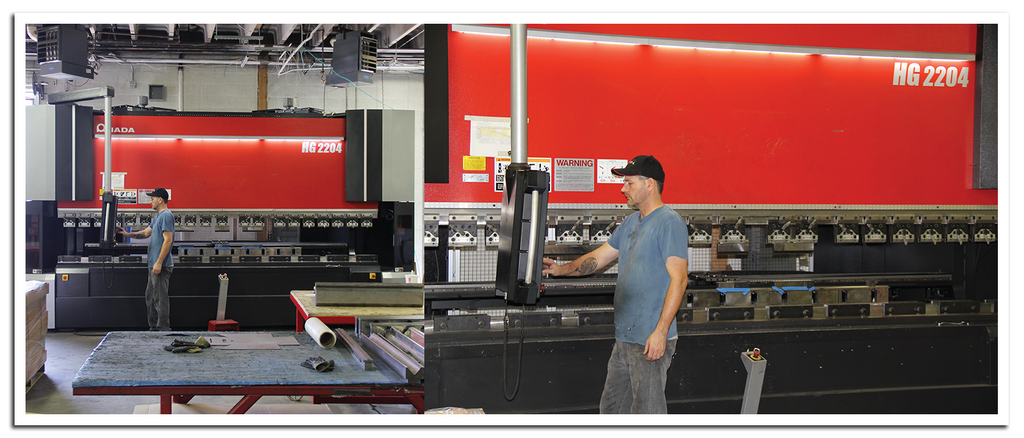 AEI Fabrication's Amada HG2204 250 Ton Press Brake