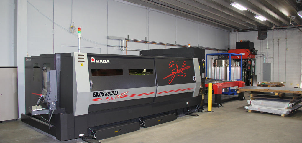 AEI Fabrication's 3,000-Watt ENSIS AJ Fiber Laser Cutting System
