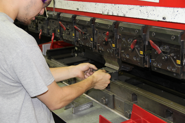 AEI Fabrication's Amada Press Brake in Operation