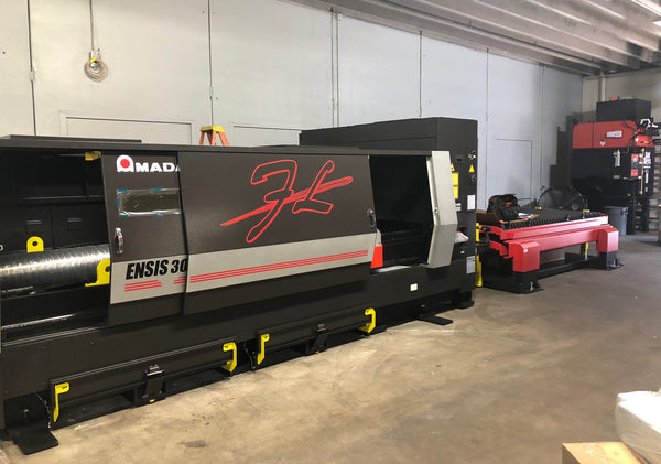 Our Amada ENSIS EN3015AJ Fiber Laser Cutting System -- The latest addition to our fabrication and machining facility