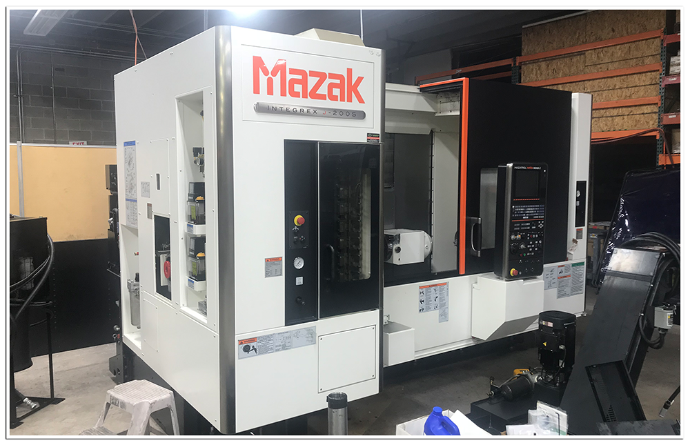 AEI Fabrication's MAZAK Integrex j200s 5-Axis CNC Multi-Tasking Machining Center
