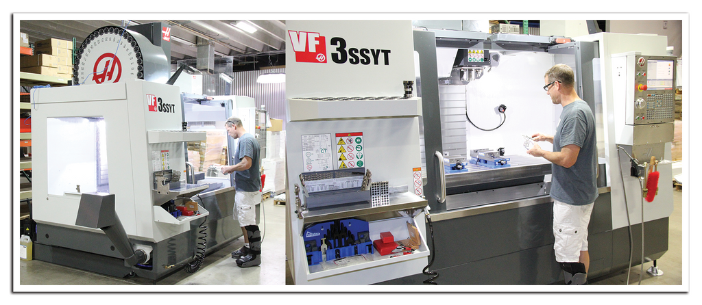 AEI Fabrication's Haas Vertical Machining Center