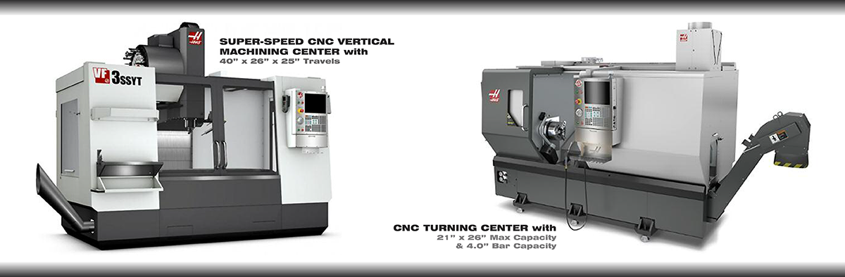 AEI Fabrication Machining and Turning Centers for Lathing, Vertical Machining