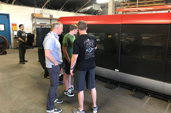 AEI Fab Founder / CEO Ron Kotloff Talks With City of Mesa Mayor John Giles On Laser Cutting