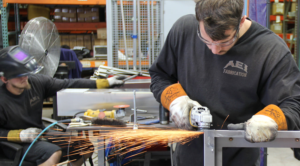 AEI Fabrication TIG & MIG Welding Expertise as well as fabrication and machining expertise