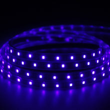 Load image into Gallery viewer, SUNVIE LED Black Light Strip, 24 Watts 6.6Ft/2M 2835 SMD 120LEDs Flexible Waterproof IP65 LED Light Strip with DC 12V 2A Power Supply