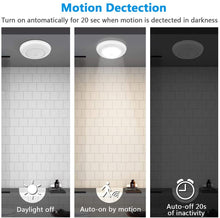 Load image into Gallery viewer, Motion Sensor Ceiling Light Battery Operated, SUNVIE Wireless Motion Sensing Activated LED Closet Light Warm White Indoor for Stairs, Hallway, Garage, Bathroom, Cabinet (Bright White, 2 Pack)