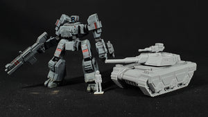 "1/100 scale EISENFRONT ""FORTUNA"" battletank."