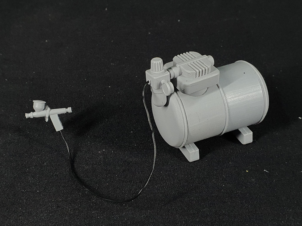 1/12 scale Spray gun and Compressor resin kit.