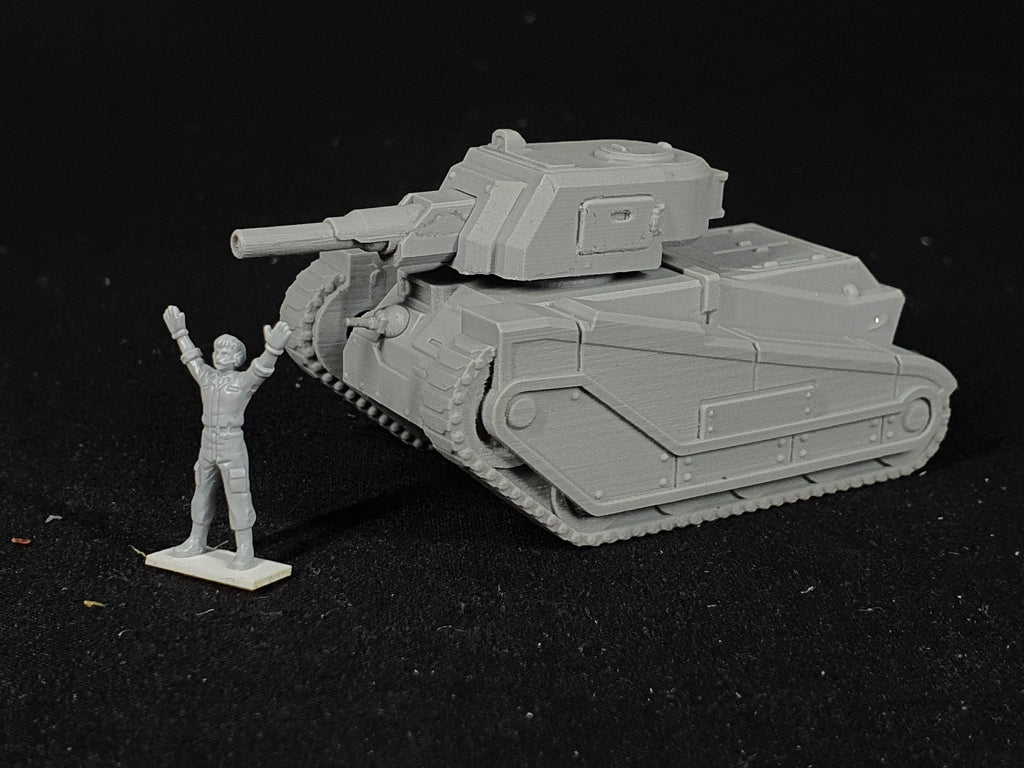 "1/100 scale ""SQUIRE"" battle tank resin model kit. Field of fire"