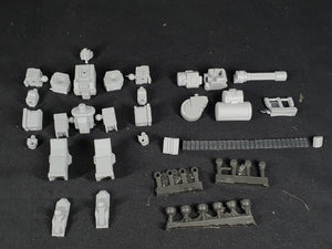 "1/100 scale EISENFRONT ""B-20 GROUNDHOG"" War-mech resin model kit"