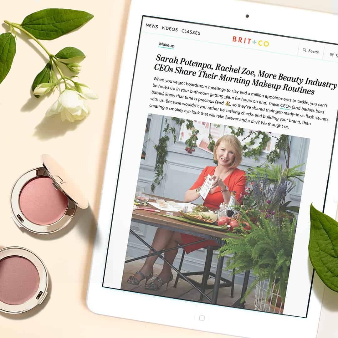 jane iredale in brit + co talking about her morning routine