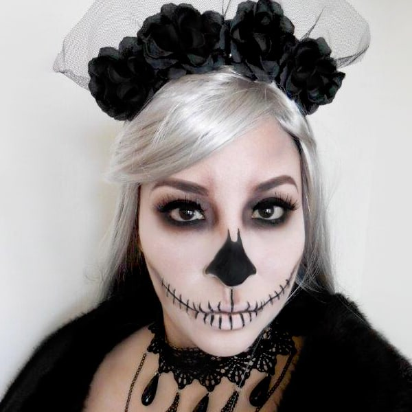 Halloween Costume Idea, Skull Costume Makeup
