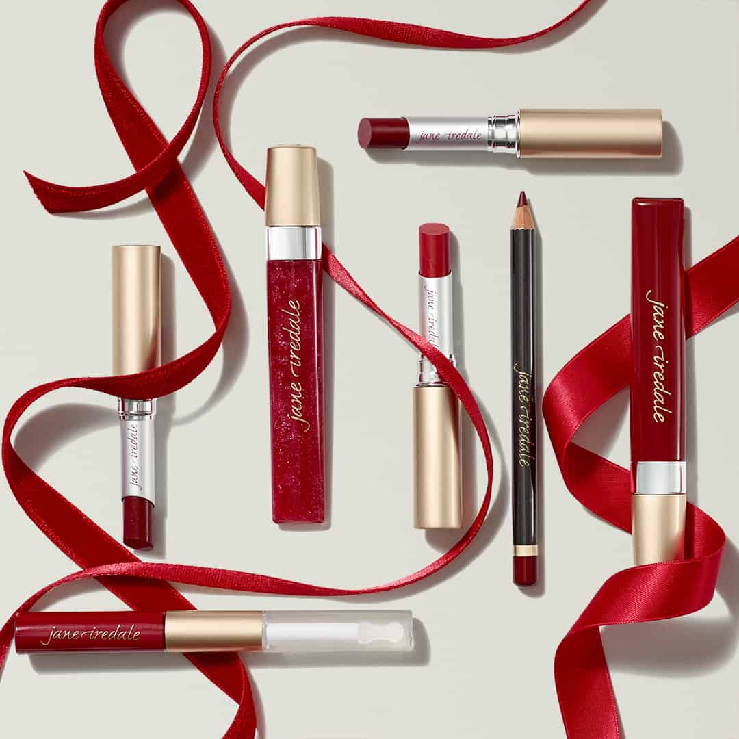 Red lip products from jane iredale
