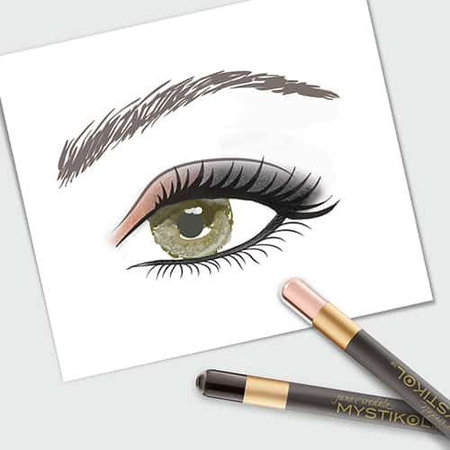 jane iredale Mystikol Eyeliner with drawing of eye