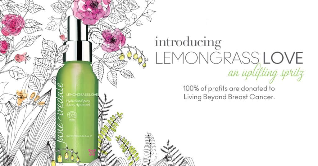 Lemongrass Love hydration spray with proceeds donated to breast cancer research