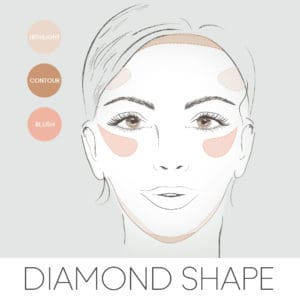 how to contour for your face shape, contouring a diamond face
