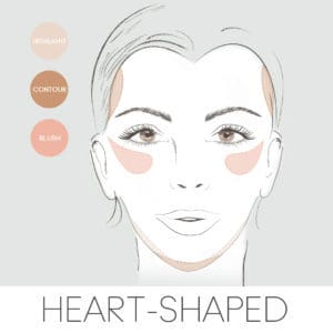 how to contour for your face shape, contouring a heart face