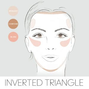 how to contour for your face shape, contouring an inverted triangle face