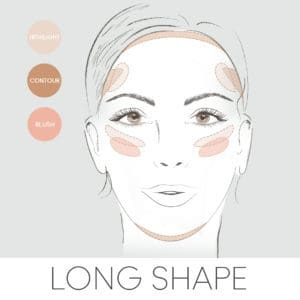 how to contour for your face shape, contouring a long face