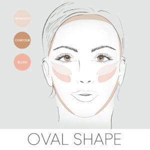 how to contour for your face shape, contouring and oval face