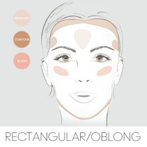 how to contour for your face shape, contouring a rectangle oblong face