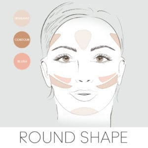 how to contour for your face shape, contouring a round face
