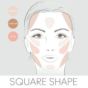 how to contour for your face shape, contouring a square face