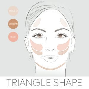 how to contour for your face shape, contouring a triangle face