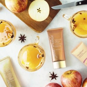 mulled apple cider and healthy skin products with apples