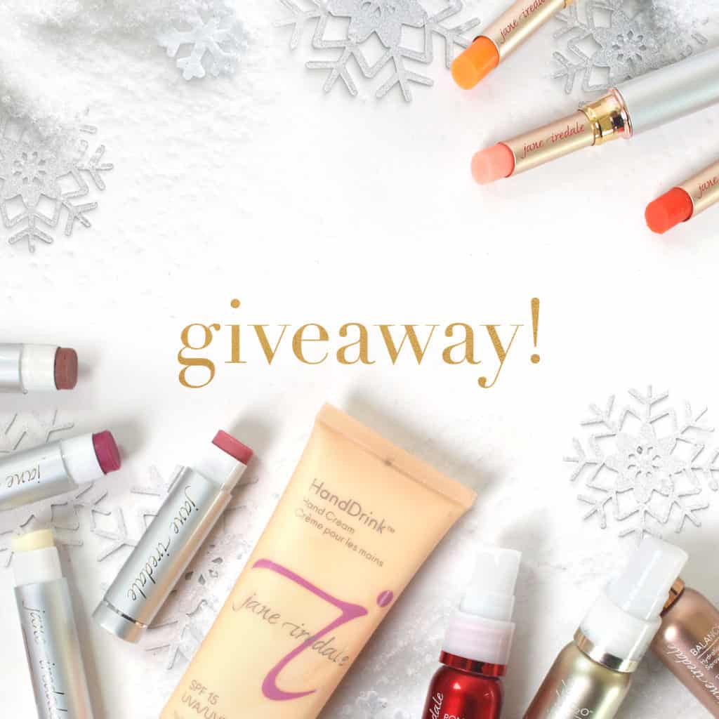 jane iredale holiday makeup giveaway, win natural beauty products