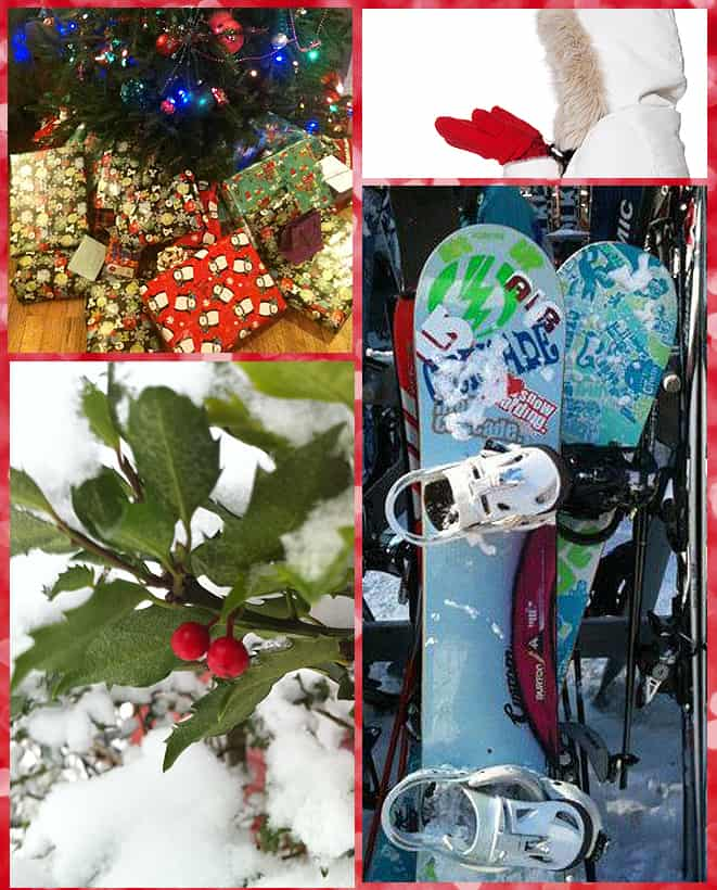 Christmas & winter collage