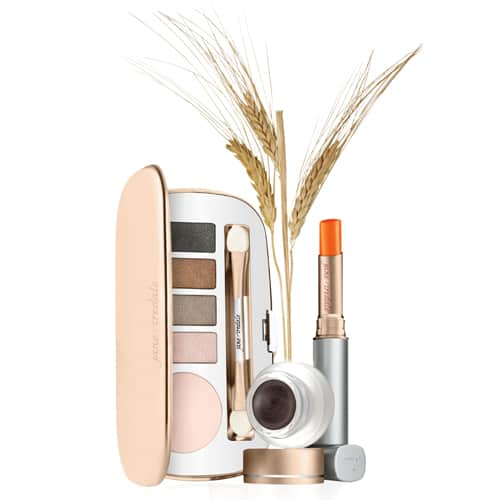 makeup collection with wheat