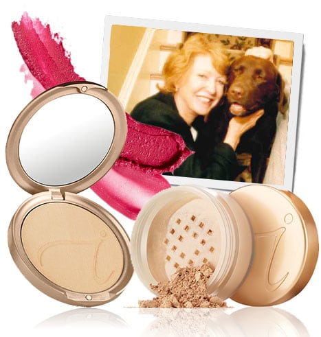 Amazing Base and PurePressed Base foundation products and Jane with her dog